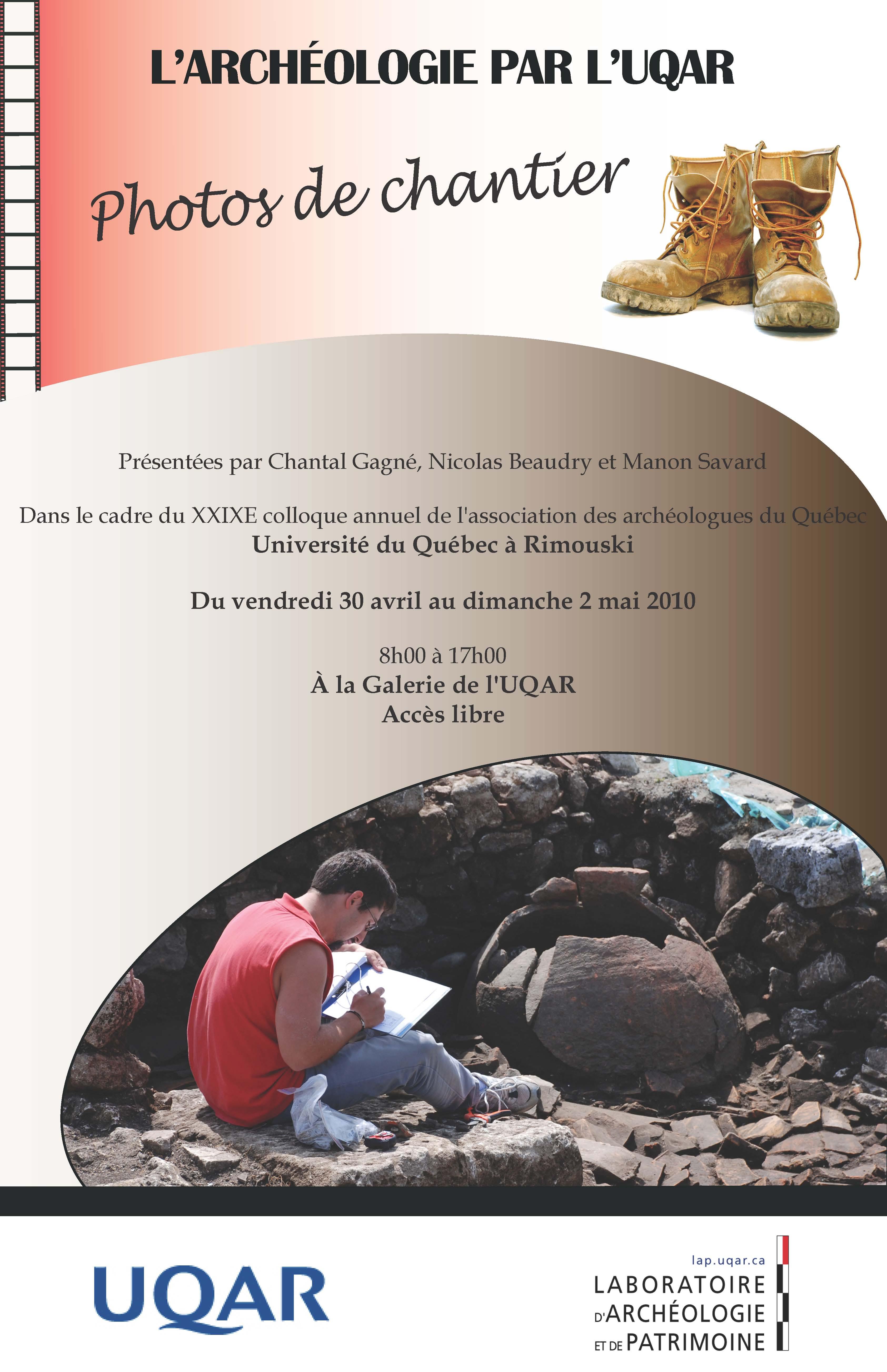 L'archéologie par l'UQAR, 2010